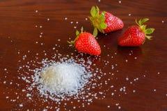 Клубника с сахаром Стоковые Фото