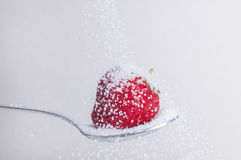 Клубника с сахаром Стоковое Изображение
