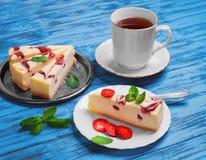 Клубника чизкейка торта Стоковое фото RF