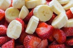 клубники бананов Стоковое Фото