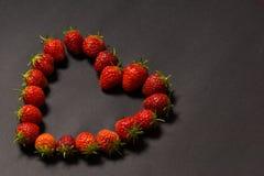 Клубники в форме сердца Стоковое Изображение