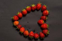 Клубники в форме сердца Стоковая Фотография