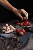 клубники десерта сладостные Стоковые Фото