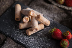 клубники десерта сладостные Стоковое Изображение