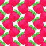 Клубники ягоды делают по образцу безшовное рука нарисованная предпосылкой также вектор иллюстрации притяжки corel Стоковое Изображение