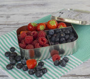 Клубники, rasberries, голубики Стоковые Фотографии RF
