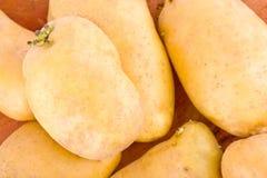 клубни картошек от рынка на изолированной еде здоровой картошки предпосылки Vegetable Стоковая Фотография