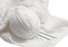 Клубок и вязание крючком Стоковое Фото