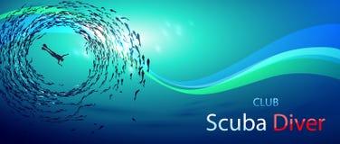 Клуб водолаза акваланга Стоковые Изображения RF