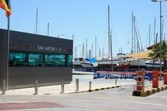 Клуб Maritimo Сан Антонио de Ла Playa Стоковое Изображение