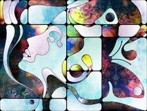 К цифров покрашенное стекло Стоковые Изображения
