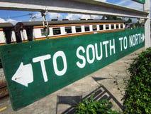 К югу или к северу? Стоковые Изображения