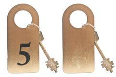 2 ключа гостиницы стоковая фотография rf