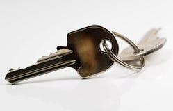2 ключа квартиры с кольцом - изображением запаса Стоковое Фото