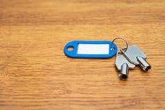 2 ключа с пустой биркой Стоковое Изображение