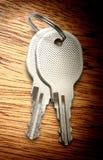 2 ключа хрома Стоковое фото RF