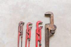 Ключа для труб ключ для труб тяжело - используемый Стоковое Изображение