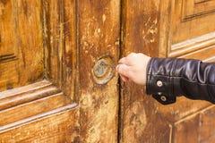 Ключевая дверь отверстия Стоковые Изображения