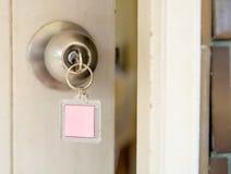 Ключевая дверь Стоковая Фотография