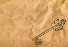 ключевая старая бумага Стоковое фото RF
