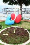 Ключевое сердце скульптуры замка Стоковые Фото