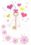 Ключевое сердце Стоковое Изображение RF
