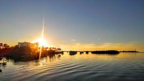 ключевой заход солнца западный Стоковое Фото