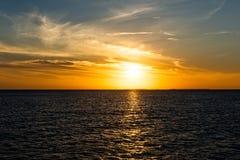 ключевой заход солнца западный Стоковые Фотографии RF