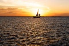 ключевой заход солнца западный Стоковая Фотография RF
