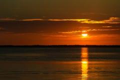 Ключевой заход солнца Largo Стоковое Изображение