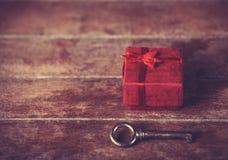 Ключевой и меньший подарок Стоковые Фото