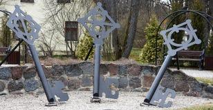 Ключевой квадрат в Sigulda, национальном парке Gauja Стоковое Изображение
