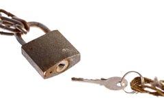 ключевой padlock Стоковое Изображение RF