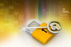 ключевой padlock Стоковые Фотографии RF