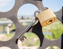 ключевой padlock Стоковые Фото