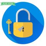 ключевой padlock иллюстрация штока