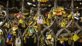 Ключевые замки влюбленности Стоковое Изображение
