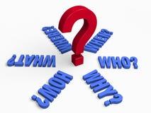 6 ключевых вопросов Стоковое Изображение RF
