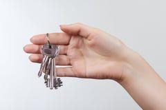 Ключи двери изолированные на белой предпосылке Стоковое фото RF