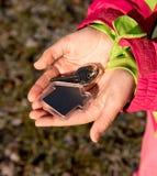 Ключи в руке Стоковая Фотография RF