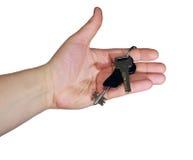 Ключи в руке Стоковое Фото