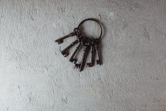 Ключи год сбора винограда на кольце Стоковые Фото