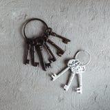 Ключи год сбора винограда на кольце Стоковое Фото