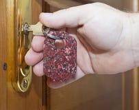 Ключи и дверь Стоковые Фото