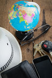 Ключи и концепция перемещения мира Стоковое фото RF