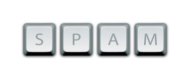 Ключи компьютера спама стоковые фотографии rf