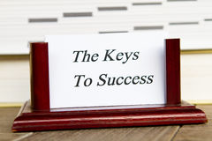 Ключи к успеху Стоковые Фото