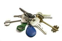 Ключи на белизне Стоковое фото RF