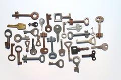 Ключи на белой предпосылке Стоковое фото RF