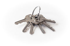Ключи на белой предпосылке Стоковые Фото